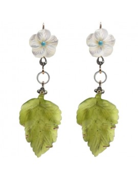 Jade Leaves Earrings