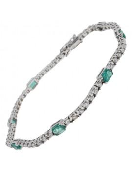 Tennis Emerald Bracelet
