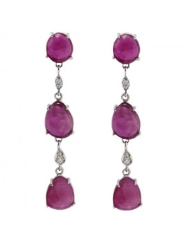 Rubies Dangle Earrings