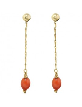 Drop Coral Earrings