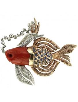 Coral Fish Pendant