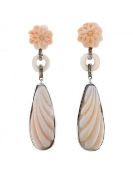 Flowers of Coral Earrings