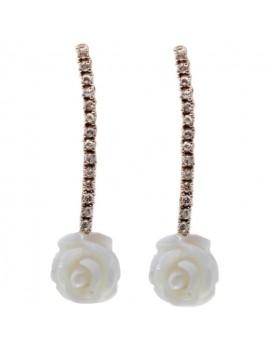 Coral Roses Earrings