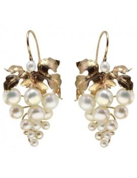 Grape Pinecone Earrings
