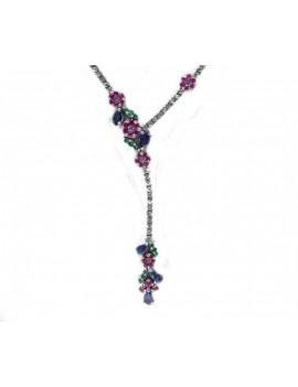 Ruby Knot Necklace