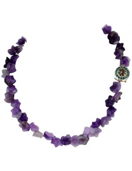 Amethyst in Flower Necklace