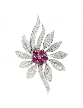 Flower Ruby Pendant