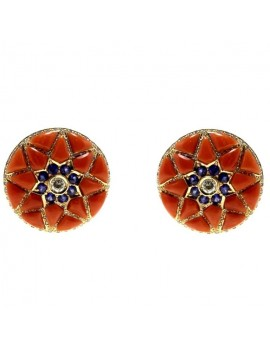 Star Red Earrings