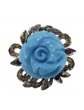 Rose Turquoise Ring