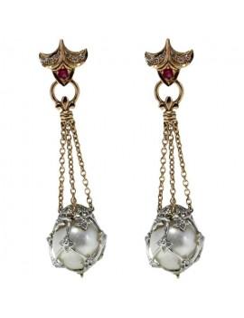 Pearls Pendent Earrings