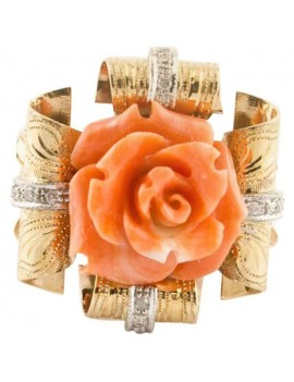 Flower of Coral Ring