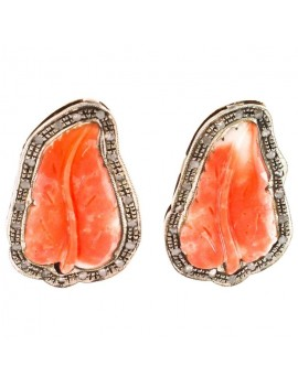 Leaf of Coral Earrings