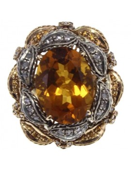 Topaz Honey Ring
