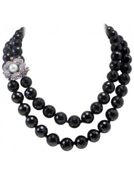 Agate Black Necklace