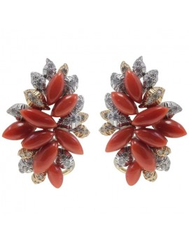 Bunch Coral Earring