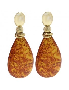 Drop of Amber Earrings