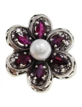 Flower Precious Ring