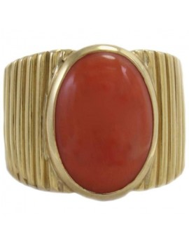 Coral Signet Ring