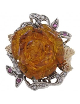 Rose of Amber Ring