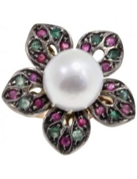 Flower Multicolored Ring