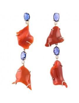 Pendant Coral Earrings