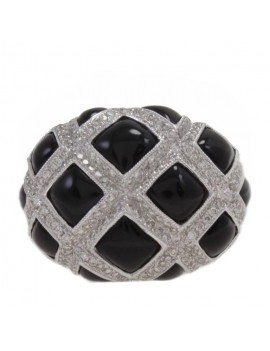 Rhombus Black Ring