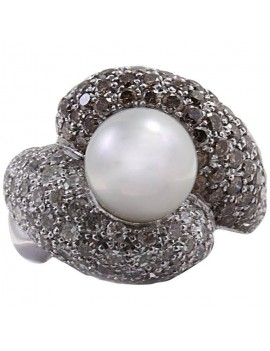 Pearl Brilliant Ring