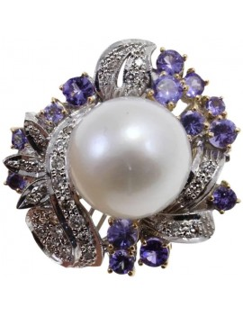 Flower Iolite Ring