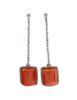 Coral Pendant Earrings