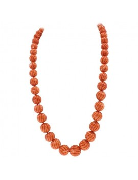 Coral Carved Necklace
