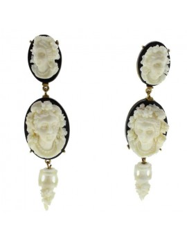 Cameo Pendent Earrings