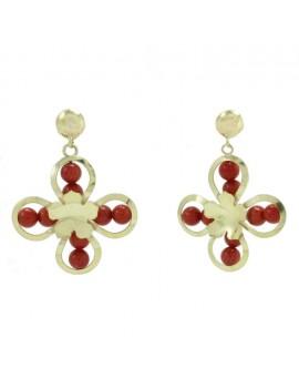 Flower of Coral Earrings