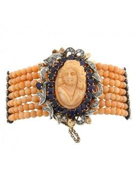 Pearls of Coral Bracelet