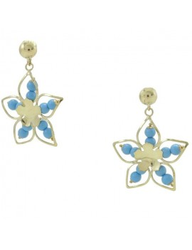 Star Blue Earrings