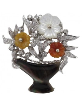 Flowery Brooch