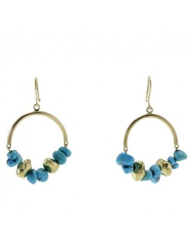 Turquoise Circles Earrings