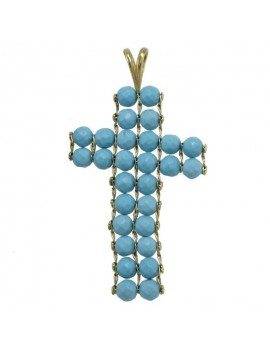 Cross Pearly Pendant