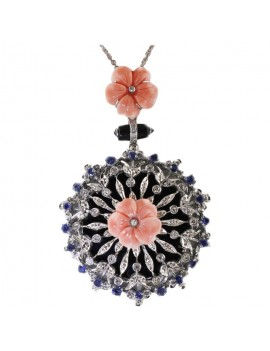 Roses of Coral Pendant