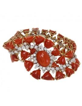 Retro Coral Bracelet