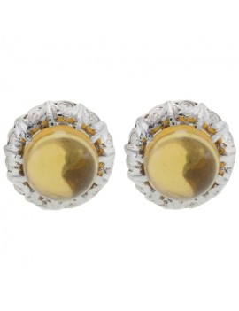 Buttons of Topaz Earrings