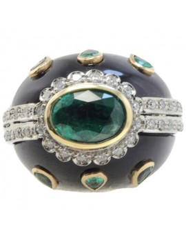 Dome Green Ring