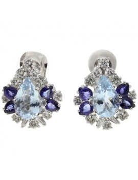 Drop Blue Earrings