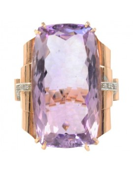 Amethyst Rectangle Ring