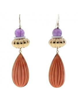 Drops Coral Earrings
