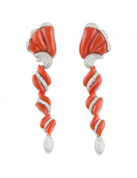 Spiral Coral Earrings