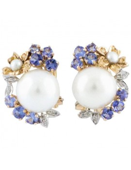 Flowered Pearls Earrings