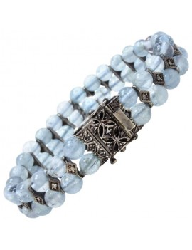 Beaded Aquamarine Bracelet