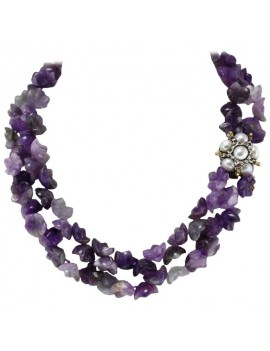 Multi Strands Amethyst...