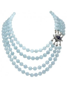 Aquamarine Beads Necklace